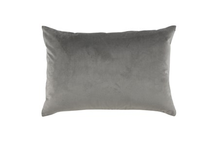 Accent Pillow-Storm Gray Smooth Velvet 14X20 - Main