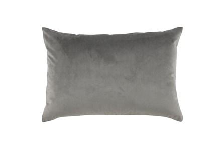 Accent Pillow-Storm Gray Smooth Velvet 14X20 - Main
