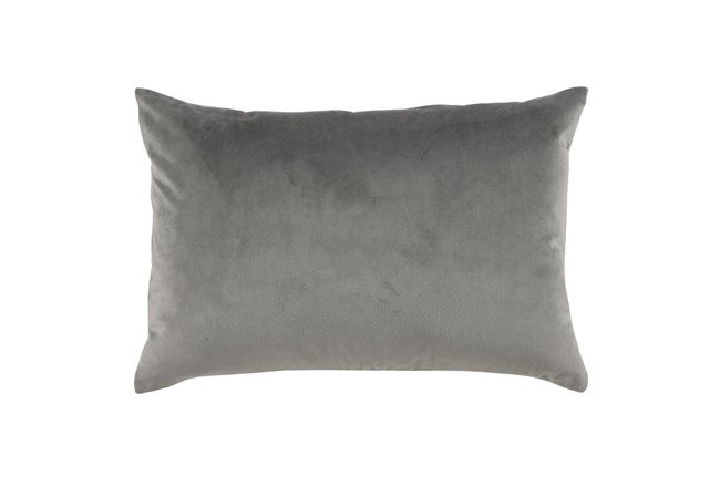 Accent Pillow-Storm Gray Smooth Velvet 14X20 - 360