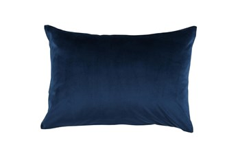 Accent Pillow-Ocean Blue Smooth Velvet 14X20