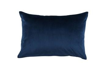Accent Pillow-Ocean Blue Smooth Velvet 14X20