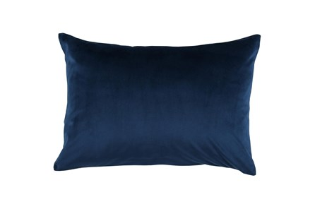Accent Pillow-Ocean Blue Smooth Velvet 14X20 - Main
