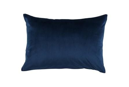 Accent Pillow-Ocean Blue Smooth Velvet 14X20 - Main