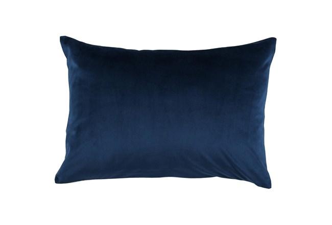 Accent Pillow-Ocean Blue Smooth Velvet 14X20 - 360