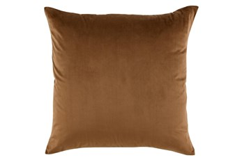 Accent Pillow-Chestnut Smooth Velvet 22X22