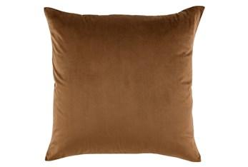 Accent Pillow-Chestnut Smooth Velvet 22X22