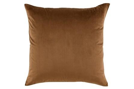 Accent Pillow-Chestnut Smooth Velvet 22X22 - Main