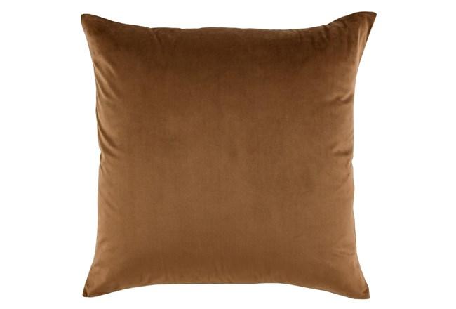 Accent Pillow-Chestnut Smooth Velvet 22X22 - 360