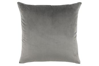 Accent Pillow-Storm Gray Smooth Velvet 22X22