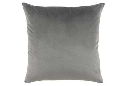 Accent Pillow-Storm Gray Smooth Velvet 22X22 - Main