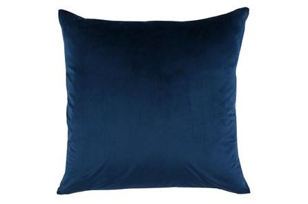 Accent Pillow-Ocean Blue Smooth Velvet 22X22 - Main