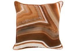 Accent Pillow-Saffron Orange Agate Stone 18X18