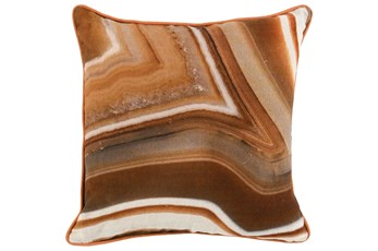 Accent Pillow-Saffron Orange Agate Stone 18X18