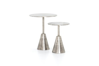Frisco Nickel End Tables Set