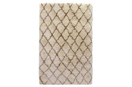 108X144 Rug-Modern Diamond Ivory Shag