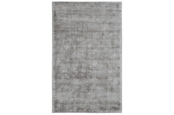 60X96 Rug-Modern Distressed Dove Gray Woven