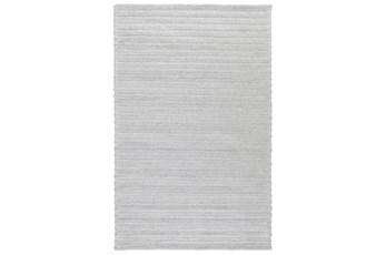 96X120 Rug-Modern Cloud Gray Plush Wool Blend