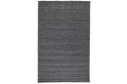 24X36 Rug-Modern Charcoal Plush Wool Blend