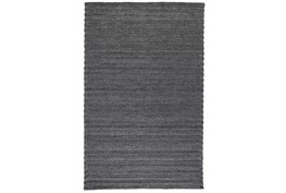 2'x3' Rug-Modern Charcoal Plush Wool Blend