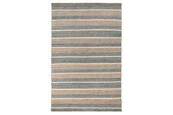 60X96 Rug-Rustic Natural Blue Multi
