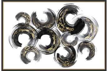 Picture-Gold And Black Swirls