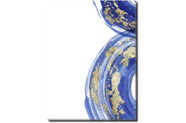 Picture-Gold And Blue Swirl I