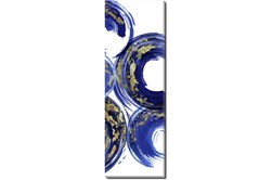 Picture-Gold And Blue Swirl III