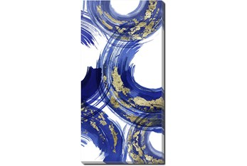 Picture-Gold And Blue Swirl IV