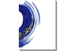 Picture-Gold And Blue Swirl V