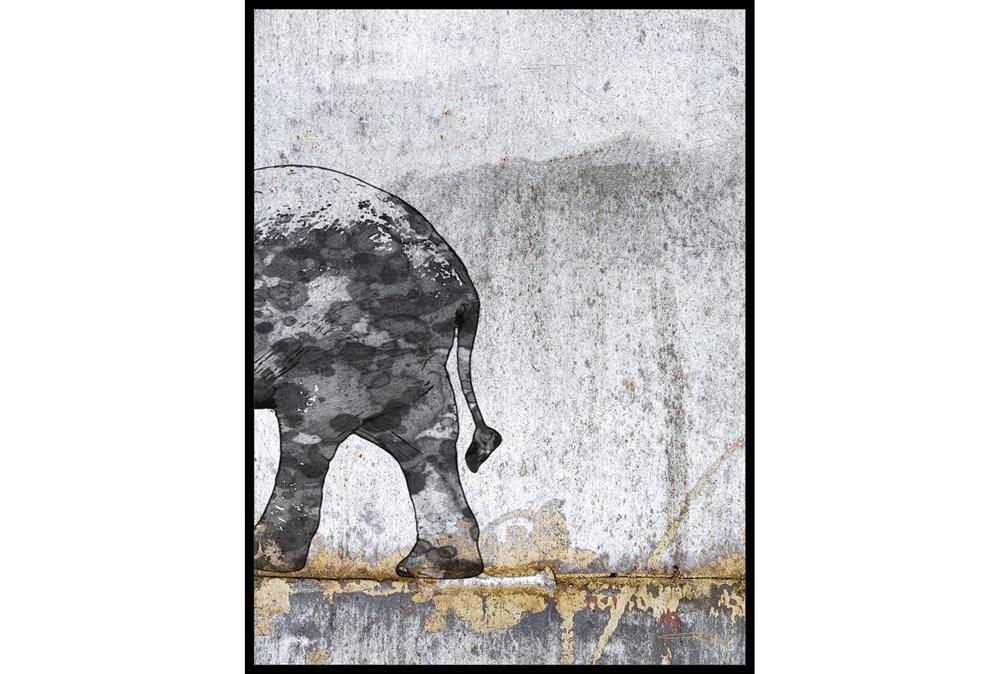 Picture-Black & White Elephant II