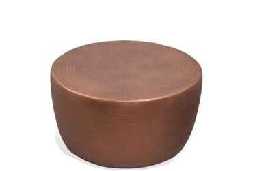 Nadene Antique Copper Drum Cocktail Table