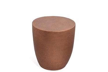 Nadene Antique Copper Drum End Table