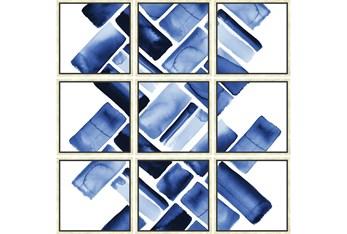 60X60 Blue Bricks Set Of 9