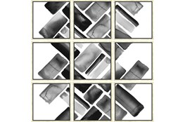 Picture-Black Bricks Set Of 9