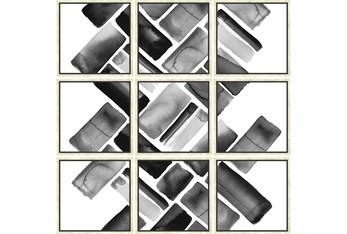 Picture-Black Bricks Set Of 9