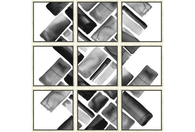Picture-Black Bricks Set Of 9 - 360