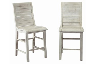 Willow White Counter Chair, Set Of 2