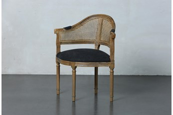 Black Carved French Corner Chair