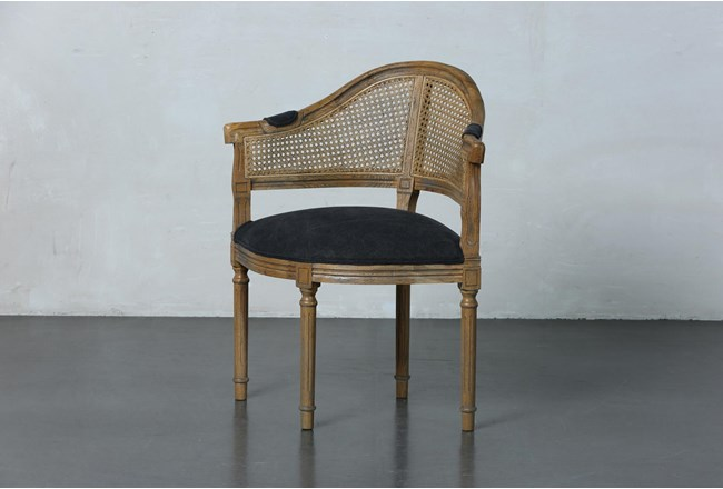 Black Carved French Corner Chair - 360