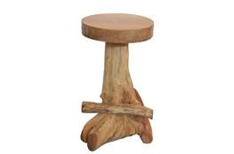 Organic Wood Natural Finish Bar Stool