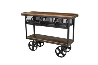 Wood/Iron Industrial Cart