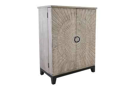 Wood Carved Panel Bar Cabinet - Main