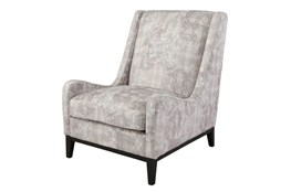 Cream/Gray Patterned Accent Chair