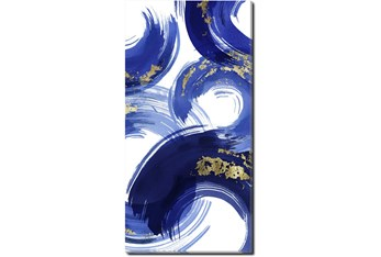 Picture-Gold And Blue Swirl II