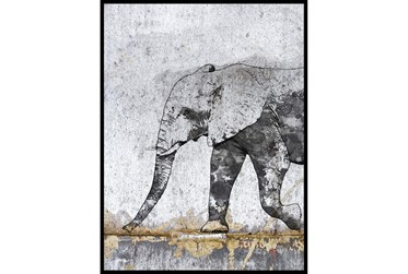 Picture-Black & White Elephant I