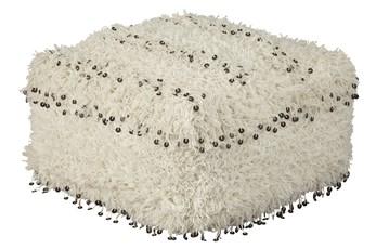 Pouf-Woven Shag Oatmeal