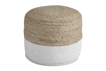 Pouf-Braided Natural/White