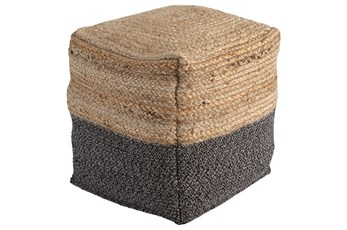Pouf-Braided Natural/Black