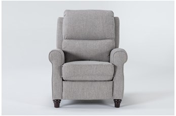 Whitwell Light Grey Push Back Recliner