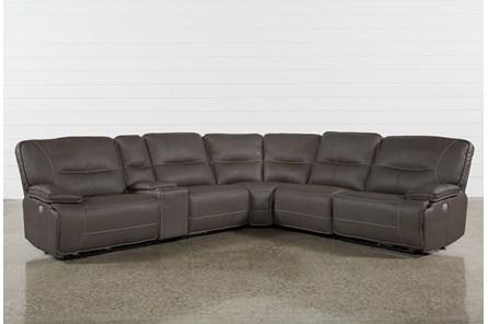 Marcus Grey 6 Piece Sectional With Power Headrest & Usb - Main